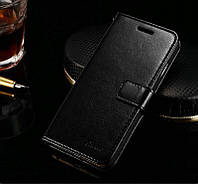 Черный кожаный чехол-книжка для iPhone 6/6S