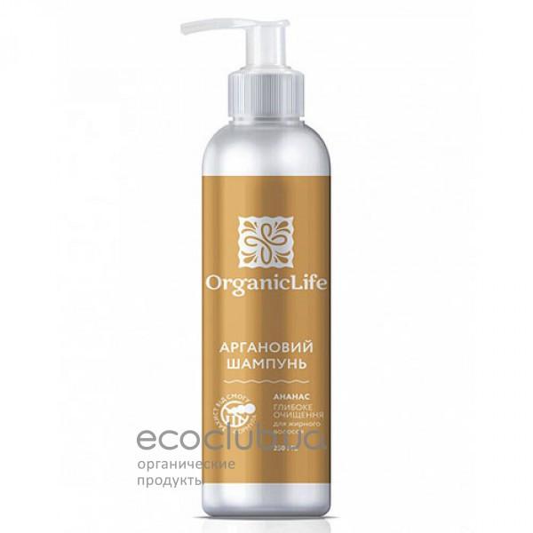 Шампунь для волос аргановый Глубокое очищение Organic Life 250мл