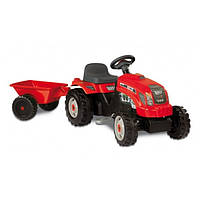 Smoby Детский трактор педальный с прицепом красный XL Claas 710108 GM Bull Red