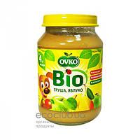 Пюре фруктовое Bio органическое Груша и яблоко Ovko 190г