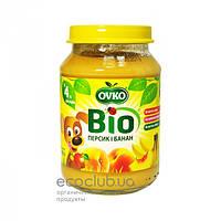 Пюре фруктовое Bio органическое Персик и банан Ovko 190г