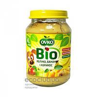 Пюре фруктовое Bio органическое Яблоко, банан и абрикос Ovko 190г
