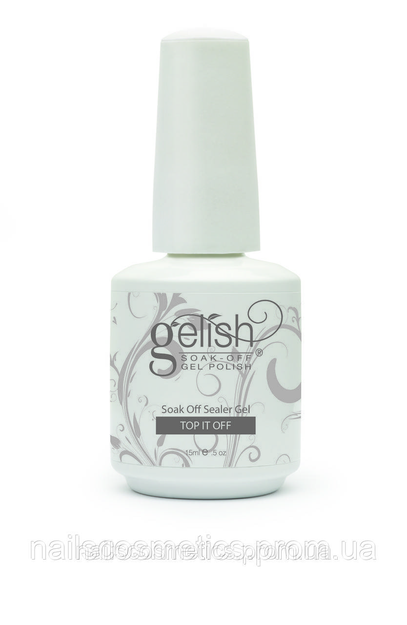 01246 GELISH TOP-IT-OFF / SOAK OFF GEL SEALER - гель-верхнее покрытие (силер) для перекрытия гелев
