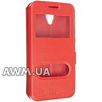 Чехол книжка с окошком Nillkin для Lenovo A PLUS (A1010 A20) красный