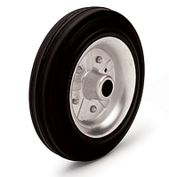 Колеса металлические с литой черной резиной, диаметр 80 мм, без кронштейна PROFI