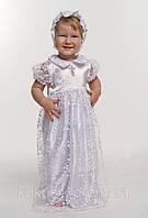 Комплект крестильное платье для девочки оптом с гипюром белый, фото 1