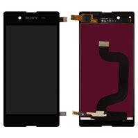 Дисплей для мобильных телефонов Sony D2202 Xperia E3, D2203 Xperia E3, D2206 Xperia E3, черный, с сенсорным экраном, high-copy