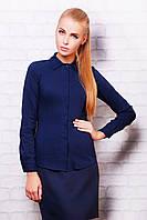Деловая женская блузка темно-синего цвета