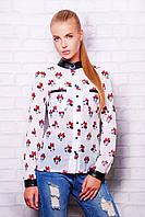 Шифоновая женская рубашка с принтом мики-маус