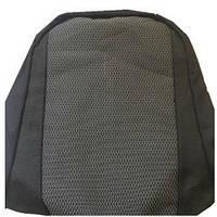 Чехлы модельные ВАЗ 2107 эконом на поролоне черно-серые (в кульке)