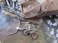 Вело-кулон на цепочке - подарок велосипедисту - Подвеска Велосипед