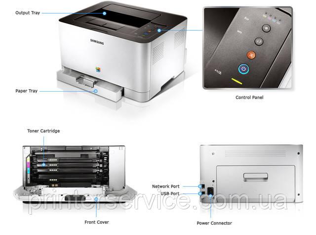 Цветной лазерный принтер А4 Samsung CLP-365W с модулем Wi-Fi (CLP-365W/XEV)