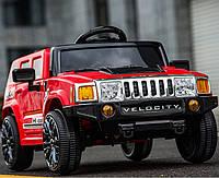Детский электромобиль M 3403 EBLR-3 Хаммер (Hummer) на EVA резиновых колёсах, с кожаным сиденьем, красный