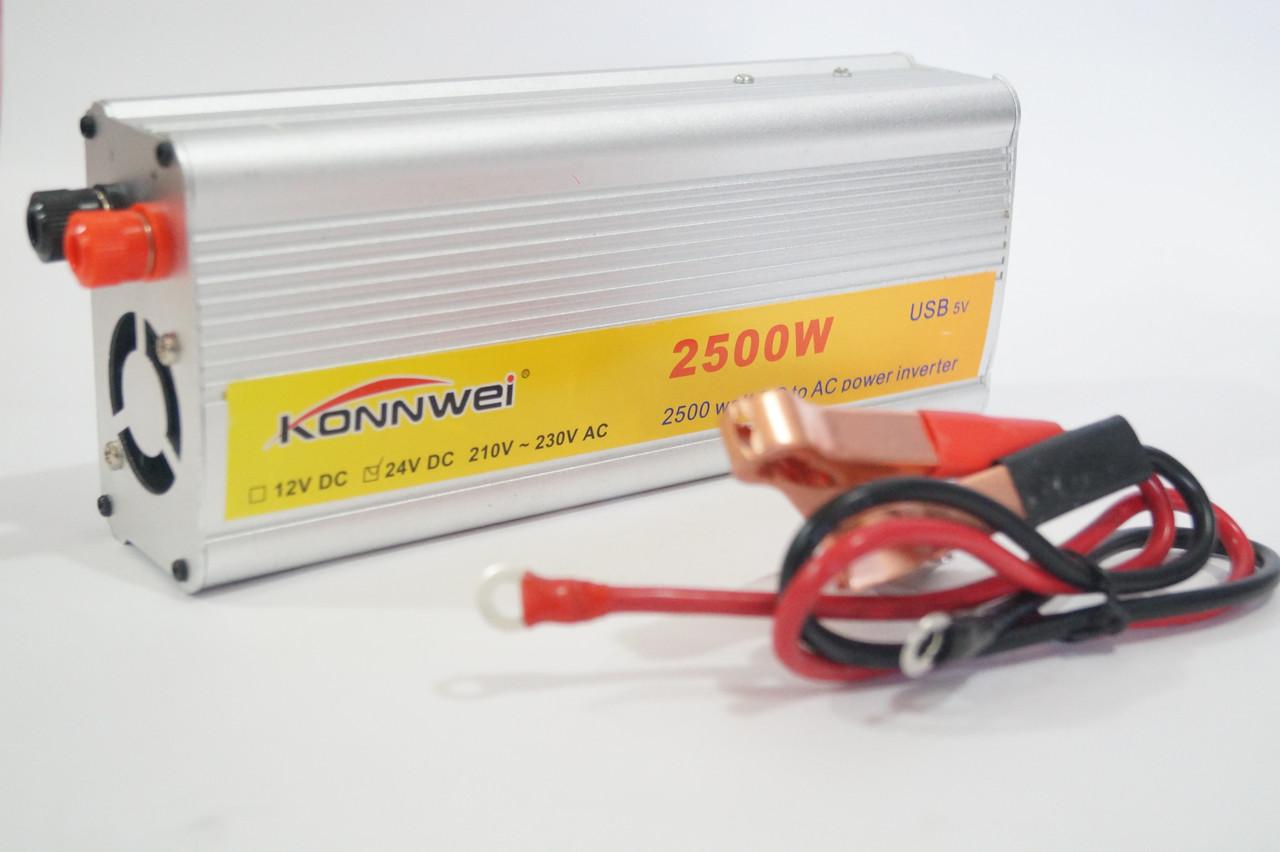Преобразователь Konnwei 2500 (Инвертор) 2500W  24V в 220V  Invertor