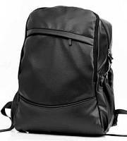 Городской рюкзак экокожа черный
