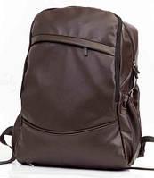 Городской рюкзак экокожа коричневый