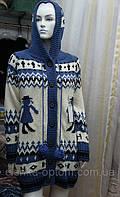 Пальто вязаное с узором