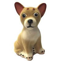 Копилка щенок чихуа-хуа велюр 18 см