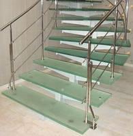 Лестница из многослойного стекла триплекс, фото 1