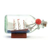 Кораблик в бутылке средний
