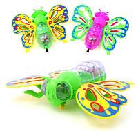 Бабочка на нитке ездит светится 15 см