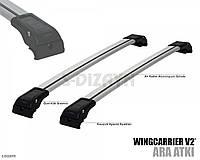 Поперечины на интегрированные рейлинги  Seat Leon ST (2013-) хром