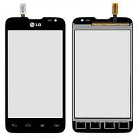 Сенсор (тачскрин) LG D285 Optimus L65 Dual Sim черный