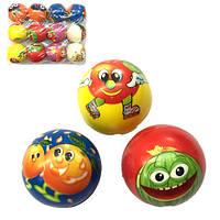 Мяч паралоновый  с фруктами 7.5 см (12)