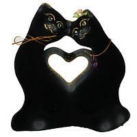 Копилка  коты с сердцем миники  велюр  15 см