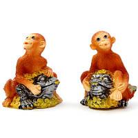 Копилка обезьяна на жабе фен-шуй 9 см (4)