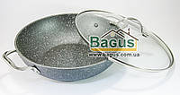 Сковорода WOK 28 х 8 см с каменным антипригарным покрытием Fissman Moon Stone (AL-4411.28)