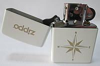 """Зажигалка ZIPPO ( 28555 ) белая, матовая, с надписью """"ZIPPO ''"""