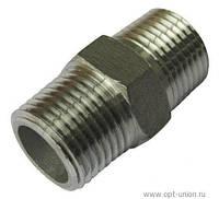 Переходник 1/2Н*1/2Н (Stainless Steel)