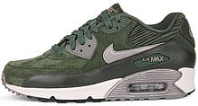 Женские кроссовки Nike Air Max 90 LTHR Carbon Green топ реплика, фото 2