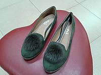 Модные женские балетки SOPRA 47-1 зеленые
