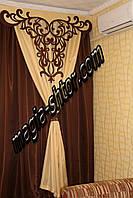 Ажурный ламбрекен + шторы из монорея