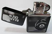 Зажигалка ZIPPO ( 28677) чёрная, матовая, с рисунком, фото 1