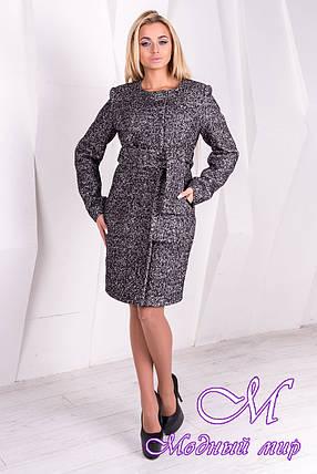 Женское весеннее пальто с поясом (р.S, M, L) арт. Луара лайт крупное букле 10093, фото 2
