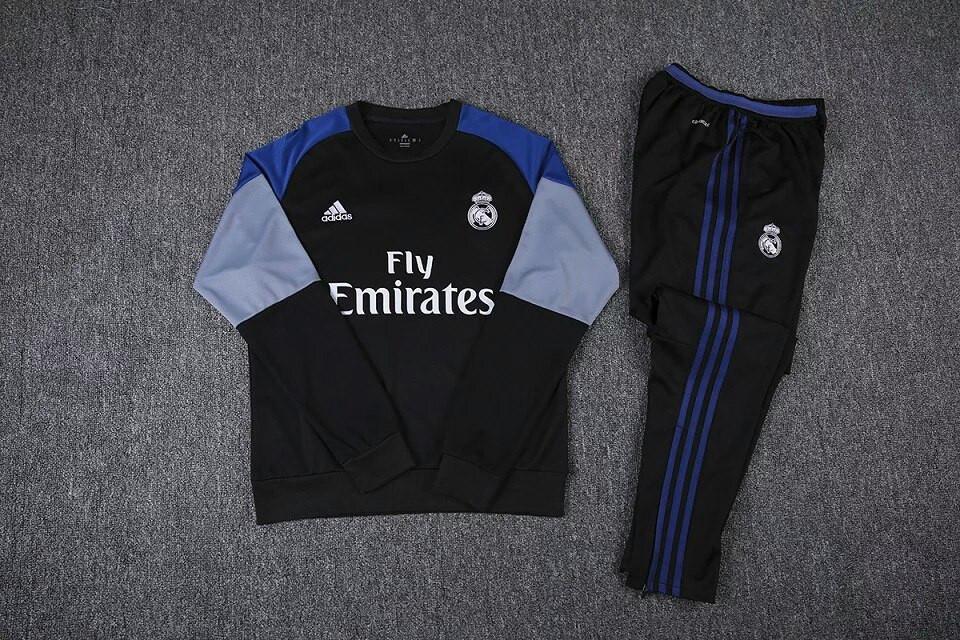 Костюм тренировочный Реал Мадрид Fly Emirates черный