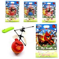 Птица вертолёт Angry Birds велюровая летает и светится на пульте