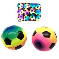 Мяч футбольный паралоновый яркий 6 см (12)