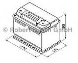 Автомобільний акумулятор BOSCH 0092S40090, 74Ah +-, 12V Bosch S40080 Silver 74 Ач, 278х175х190,АКБ, фото 2
