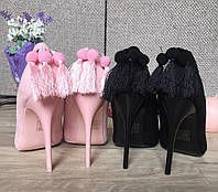 Женские туфли с кисточками, разные цвета