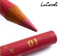 """Олівець для губ de Luxe -""""Рожева квітка"""" 01, фото 1"""