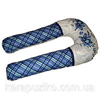 U-образная подушка для беременных (Цветы и квадраты)
