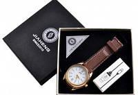 USB зажигалка-часы в подарочной упаковке (спираль накаливания) 4829-3