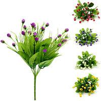 Сухие цветочки мелкие пышные 7 веток