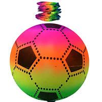 Мяч надувной большой яркий футбол(10)