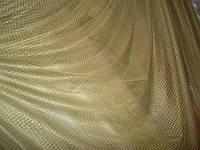 Тюль сетка ромб оливковый цвет