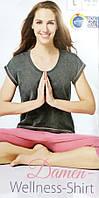 Футболка из хлопка женская легкая для медитации Crivit размер евро M 40 42